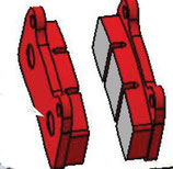 RBS-V2/ V1  BRAKE PAD RED (Soft 1 Stk )