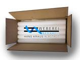 20 Stück Paraffin-Stangen 550mm X 45mm - Karton  16 kg Qualität weiss Weberei-Zubehör