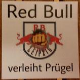 150 Red Bull verleiht Prügel Aufkleber 6x6