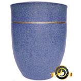 Keramik Urne Amalfi dunkelblau