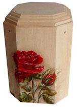 Gutenberger Urne Motiv Rose handbemalt