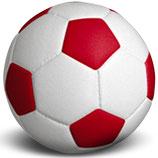 Fussball Urne in deinen Vereinsfarben