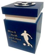 Fussballer-Urne Blau-Weiss z.B. Schalke