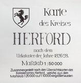 Karte des Kreises Herford
