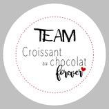 """Badge """"Croissant au chocolat"""""""