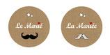 "Le duo de badges ""Les Mariés"""