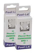 Nachfüllpackung Pool-Tester freies Chlor/freies Brom + pH-Wert (je 30 Stück)