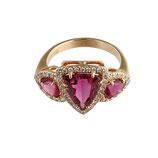 Pinker Turmalin Diamant Ring