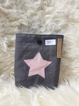 Pocket Bag grau mit rosa Stern