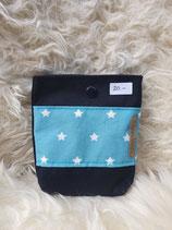 Pocket Bag schwarz mit hellblau