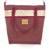 3 in 1 Tasche Leaf Bordeaux