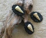 Vogelschädel Replika Brosche
