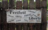 """Shabby Schild """"Freiheit"""""""