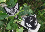 """Mysty Cats"" Brosche oder Clip"