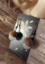 Eichelhütchen mit Perle als Ohrringe