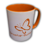 Drivefair-Butterfly Tasse Orange