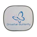 Drivefair-Butterfly Auto- Sonnenschutzblende Blau