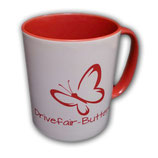 Drivefair-Butterfly Tasse Rot
