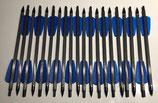 """20 Carbonbolzen 7,5"""" ADDER für Cobra R9 Armbrustbolzen Ek Archery blaue Feder"""