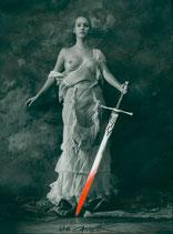 Jan Saudek - Girl with sword, 1998