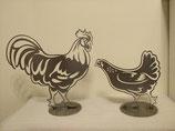 Figur Huhn und Hahn