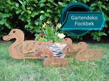 Gartenstecker Entenfamilie 4 Stück