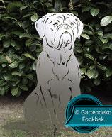 Figur Bordeaux Dogge Höhe ca 66 cm