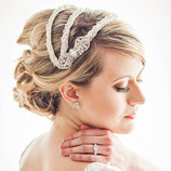 Beaded Vintage Inspired Bridal Headpiece Juliet Cap