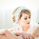 Ivory Pearl and Vintage Lace and Tulle Bridal Headpiece Headband