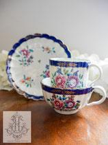 103. ウースター第一期 瑠璃と花のトゥルートリオ(英1765-1770年代)