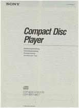 SONY CDP-670/470/270 CDP-M47/M27 Bedienungsanleitung