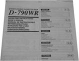 SANSUI D-790WR Stereo Double Cassette Deck Bedienungsanleitung