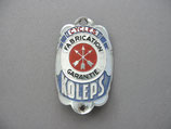 FAHRRAD OLDTIMER Emblem Steuerkopf Schild CYCLES KOLEPS ~1930-1950 ...