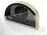 Seiko QQZ137G Quartz Uhr Tischuhr Kaminuhr Messing Rauchglas ~ 2000 ...