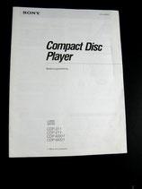 SONY CDP-211/311/M201/M301 Bedienungsanleitung