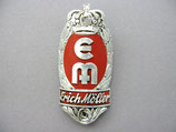 FAHRRAD OLDTIMER Emblem Steuerkopf Schild EM Erich Möller Fahrradwerke ~1930-1950 ...
