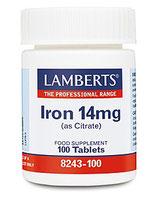 Iron 14 mg Tbl