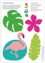 Bastelbogen Flamingo Südsee