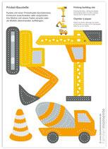 Bastelbogen Baustellenfahrzeuge