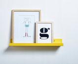 Bücherboard - gelb