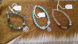 Bracelet en pierre naturelle avec charms sur mesure!