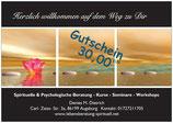 Gutschein im Wert von 30,00 EUR