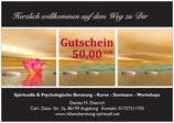 Gutschein im Wert von 50,00 EUR