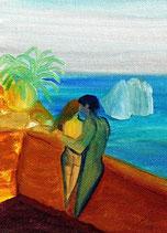 Romance - Capri - Öl auf Leinwand - Auf Anfrage