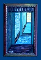 Meine Fenster 2 - Öl&Acryl auf Leinwand - 58 x 38cm