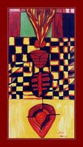 Against FGM - Öl auf Leinwand - 50x100cm