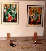 Bild links Loneliness - ausgezeichnet an der Biennale Malta 2005 (Special Distinction Award) - unverkäuflich
