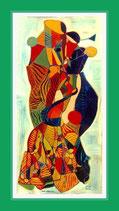 Das Konzert - ausgezeichnet an der Biennale Malta 2005 (Special Distinction Award) - Öl auf Leinwand gerahmt 80,5x159cm