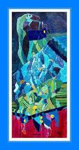 Panta Rhei - Öl auf Leinwand 70 x 161,5cm, gerahmt