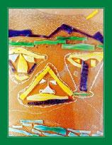 3 Drachen - Mischtechnik mit Murano-Glas - unverkäuflich
